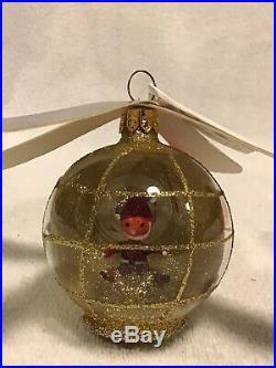 Radko Italian Blown Glass Ornament Santa Copter Rare Tag/Box 94 Helicopter