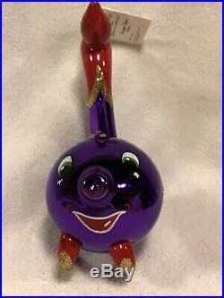 Radko Italian Blown Glass Ornament Siegfred Red/Purple Colorization Tag/Box 93