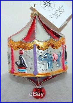 Radko MERRY GO ROUND Christmas Ornament 01-0060-0