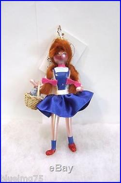 Radko Ornament Wizard of Oz Kansas Cutie #1011324 Dorothy NEW With TAG (R34)