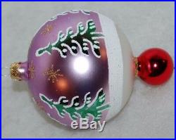Radko SIBERIAN SLEIGHRIDE Christmas Ornament 93-403-0 Ball with Drop