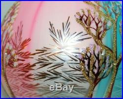 Radko WINTER TWILIGHT Christmas Ornament 96-283-0 RARE, LARGE TEARDROP