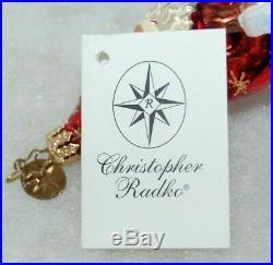 Radko WINTER WONDER NICHOLAS Christmas Ornament 10-1092-2 HUGE SANTA W REFLECTOR