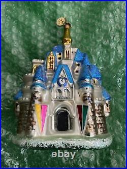 Radko Walt Disney World Exclusive Cinderella Castle Christmas Ornament