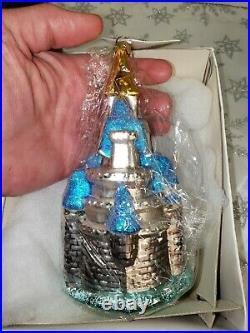Radko Walt Disney World Exclusive Cinderella Castle Christmas Ornament 98-DIS-42