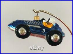 Rare 1998 Christopher Radko Indy 500 Race Car Ornaments. Complete Set of 4