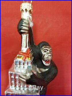 Rare 2000 Christopher Radko King Kong on Empire State Building Ornament
