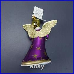 Rare Christopher Radko Christmas Ornament Purple Angel ITALY