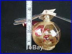 Rare Christopher Radko Helicopter Christmas Ornament Santa Pilot Chopper 94-306