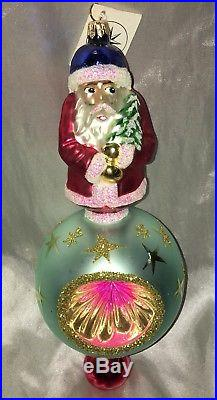 Rare Christopher Radko Santa Claus Ornament 1995 Indent W Tag 10 Christmas
