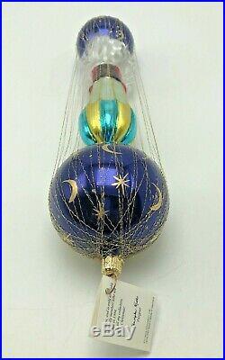 Rare Christopher Radko Starbuck Santa Glass Ornament 1994 Germany Parachute