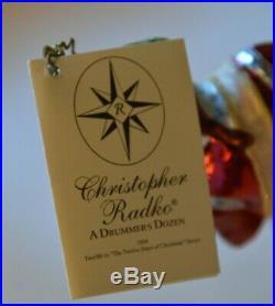 Rare Le Christopher Radko A Drummer's Dozen 12 Days Of Christmas Ornament