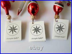Set of 3 New CHRISTOPHER RADKO Olympic Ski Team Ornament Italy
