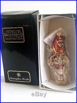 Unused Christopher Radko Star Wars Ewoks Extremely RARE! Glass Ornament