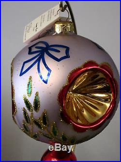 VERY RARE! Christopher Radko Epiphany Ball Glass Balloon Christmas Ornament