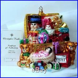 VTG LE #3 XL Santa Toychest CHRISTOPHER RADKO Marshall Fields CHRISTMAS ORNAMENT