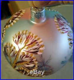Very Rare Radko Glass Ornament! 1996 Gorgeous PieceWinter Twilight. #96-283-0