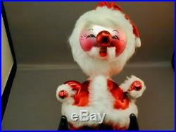 Vintage 1990's Blown Glass Radko Santa Claus Tree Topper Ornament Italy