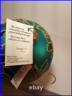 Vintage Christopher RADKO 1996 Blue Petite Winter Star Blossom Ornament With Tag
