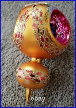 Vintage Christopher Radko Midas Touch 86-049 Christmas Ornament