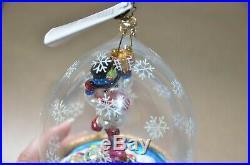 Vintage Rare Christopher Radko Frosty Jubilee Snowman Globe Christmas Ornament